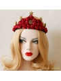 Red Gothic Rose Queen Crown Headdress