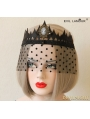 Black Gothic Queen Crown Tulle Party Headdress