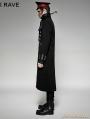 Black Military Unifrom Long Coat for Men