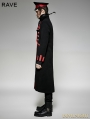 Black and Red Military Unifrom Long Coat for Men