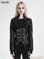 Black Gothic Punk Short Jacket for Women