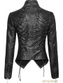 Black Gothic Punk Short Jacket for Women