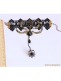 Black Gothic Wing Party Bracelet Ring Jewelry