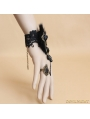 Black Gothic Fur Lace Bracelet Ring Jewelry