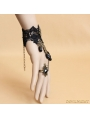 Black and Bronze Gothic Lace Bracelet Ring Jewelry