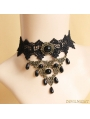 Black Vintage Palace Style Pearl Necklace