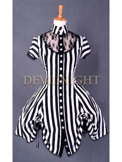Romantic Gothic Steampunk Short Dress