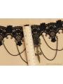 Black Gothic Rose Cross Penndant Necklace
