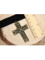 Black Gothic Simple Cross Pendant Necklace