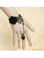 Black Gothic Rose Party Bracelet Ring Jewelry