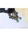 Black Gothic Lace Bronze Branch Necklace