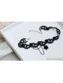 Black Gothic Flower Tassel Necklace