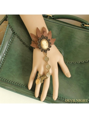 Coffee Steampunk Flower Bracelet Ring Jewelry