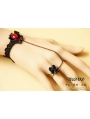 Black Gothic Lace Simple Bracelet Ring Jewelry