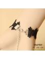 Black Gothic Lace Simple Style Bracelet