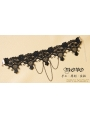 Black Gothic Lace Tassel Party Necklace