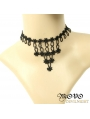 Black Gothic Simple Style Lace Necklace