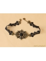 Black Gothic Cobweb Party Necklace