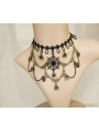 Black Gothic Cobweb Holloween Party Necklace