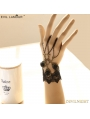 Black Gothic Vintage Lace Rose Holloween Bracelet