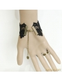 Black Gothic Vampire Lace Party Bracelet Ring Jewelry