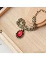 Bronze and Red Vintage Ruby Bracelet