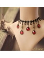 Black and Red Elegant Wedding Ruby Necklace