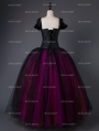 Gothic Corset Long Prom Ball Gown Dress