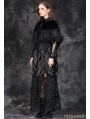Black Gothic Lolita Style Short Hooded Cape