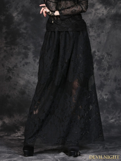 Black Simple H Shape Long Skirt