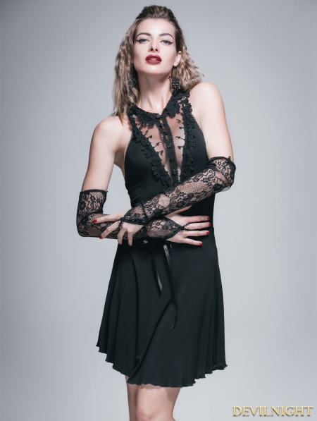 Black Gothic Sexy Short Dress Devilnight Co Uk