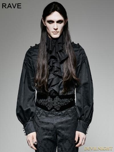Black Velvet Gothic Girdle