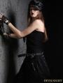 Black Gothic Punk Sexy Strap Vest for Women