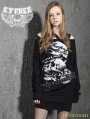 Alternative Black Gothic Punk Long Sleeves T-Shirt for Women
