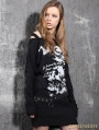Alternative Black Gothic Punk Long Sleeves T-Shirt for Women