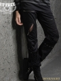 Black Gothic Punk Do Old Pencil Pants for Women