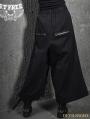 Black Gothic Punk Skull Trumpet Pants for Women