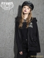 Black Gothic Punk Skull Loose Short Jacket for Women