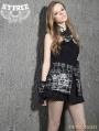Black Gothic Punk Plaid Short Skirt