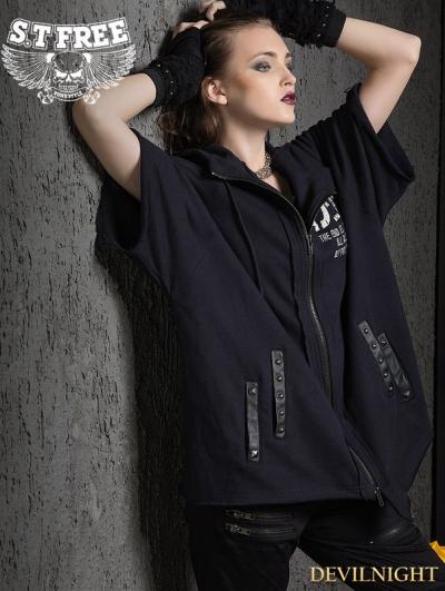 Gothic Punk Loose Short Sleeves Jacket for Women