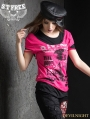 Gothic Punk Two-Piece Short Sleeves T-Shirt for Women