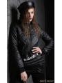 Black Gothic Punk PU Mini Jacket for Women