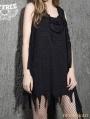 Black Gothic Punk Alternative Sleeveless Dress