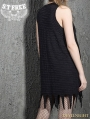 Black Gothic Punk Alternative Sleeveless Dress