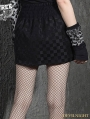 Black Plaid Gothic Punk High Waist Bubble Skirt