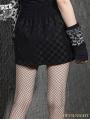 Black Plaid Gothic Punk High Waist Bubble Skirt