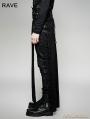 Black Gothic Steampunk Split Skirt for Men