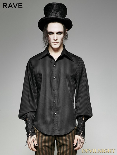 Steampunk Striped Shirt for Men