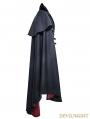 Navy Blue Gothic Vampire Count Cap Coat for Men