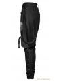 Black Gothic Military Uniform Men's Pantsloak